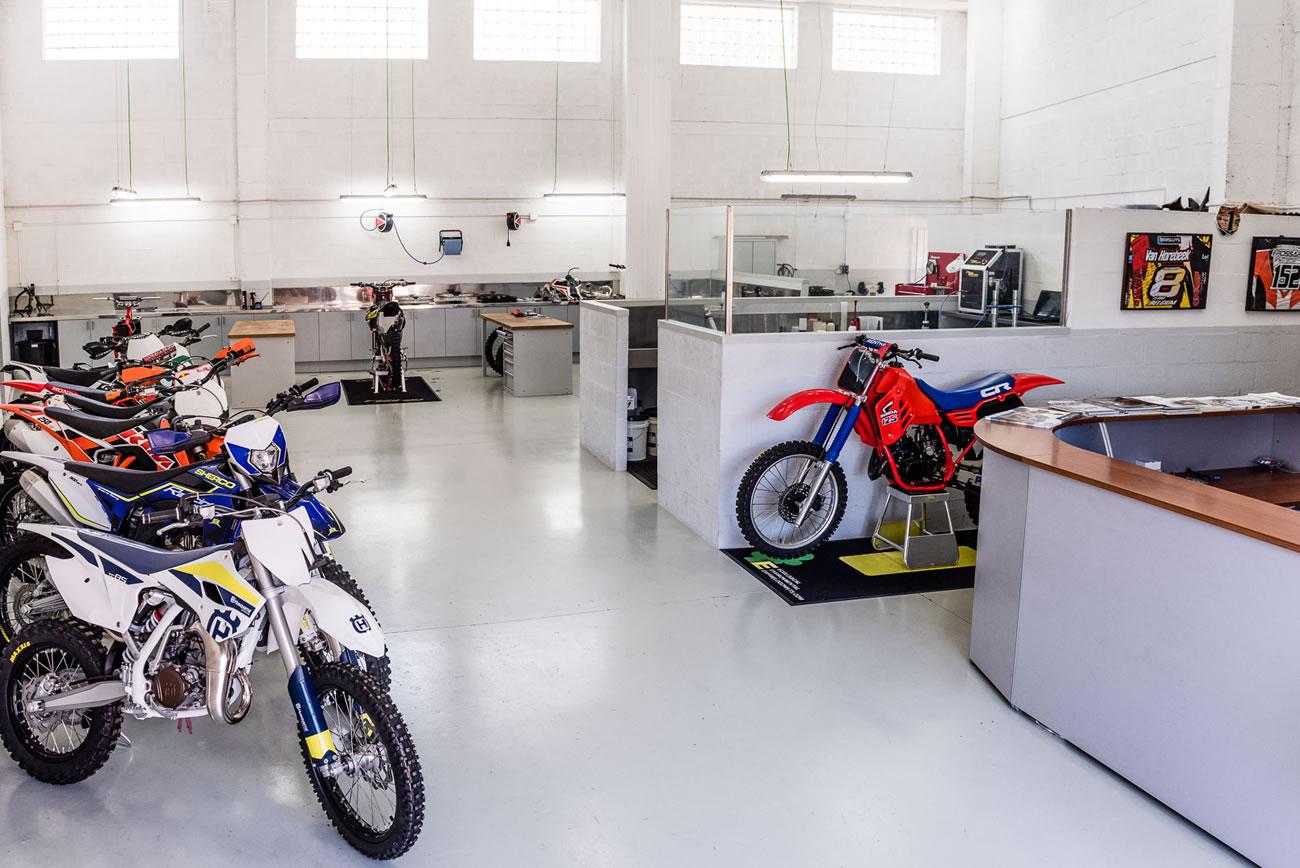 rampa para motocicletas
